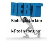 Công việc phải làm của kế toán công nợ