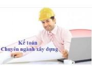 Mô tả công việc của kế toán xây dựng