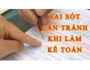 Phương pháp khắc phục lỗi kế toán trên giấy